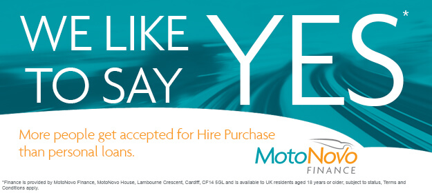 We like to say yes at MotoNovo Finance